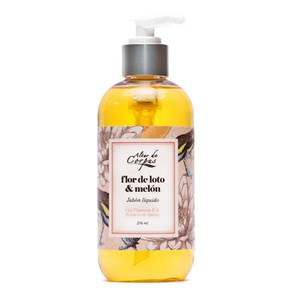Jabón-líquido-con-vitamina-E-y-extracto-de-Llantén-Flor-de-Loto-y-Melón-Altar-de-Corpus