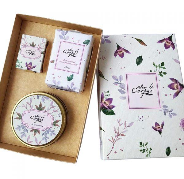 Caja Regalo Jabón artesanal y Vela aromática ALTAR DE CORPUS
