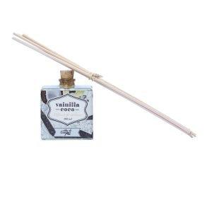 Difusor-de-aroma-con-Varitas-de-Rattan-de-100gr.-Vainilla-Coco