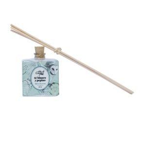 Difusor-de-aroma-con-varitas-de-rattan-100ml-Té-blanco-y-pepino