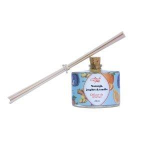 Difusor-de-aroma-con-varitas-de-rattan-Naranja-jengibre-y-tomillo-100ml