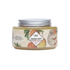 Exfoliante-de-azucar-con-Aceite-de-Almendras-naranja-y-coco-226gr-Mango-Miel.-Enriquecido-con-mantequilla-de-Mango