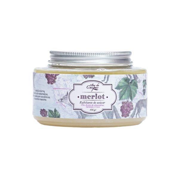 Exfoliante-de-azucar-con-Aceite-de-Almendras-naranja-y-coco-226gr-Merlot.-Enriquecido-con-extracto-de-Uva-y-aceite-de-Uva
