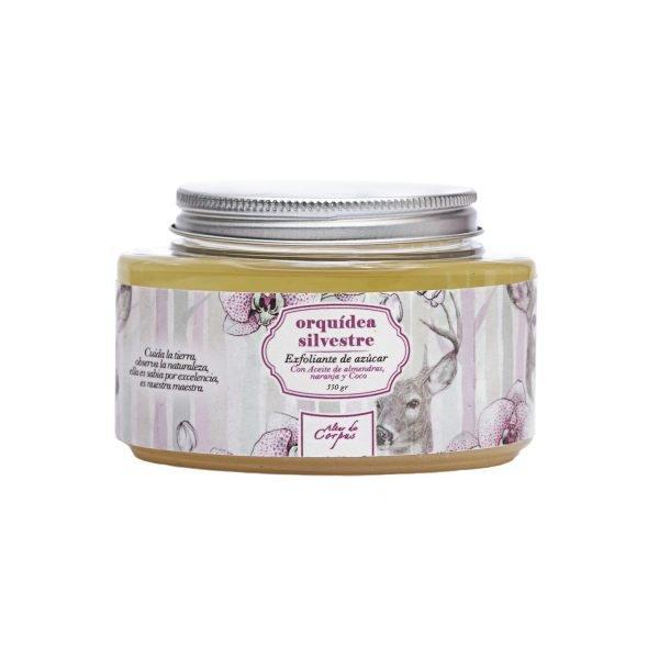 Exfoliante-de-azucar-con-Aceite-de-Almendras-naranja-y-coco-226gr-Orquídea-Silvestre.-Enriquecido-con-extracto-de-Lavanda