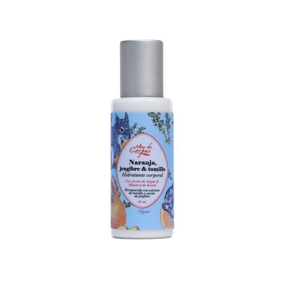 Hidratante-corporal-Naranja-jengibre-y-tomillo-59ml-con-aceite-de-argan-y-manteca-de-karite-45ml.-Enriquecida-con-extracto-de-tomillo-y-aceite-de-jengibre