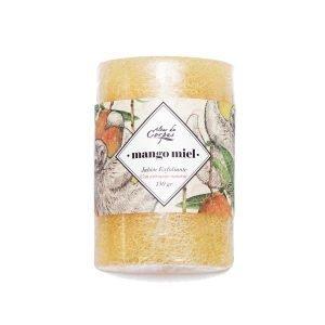 Jabón-Exfoliante-con-estropajo-Natural-130gr-Mango-Miel