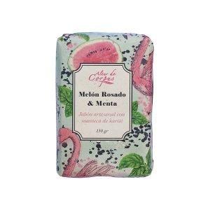 Jabón-artesanal-con-manteca-de-karite-Melón-rosado-y-menta