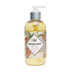 Jabón-líquido-con-vitamina-E-y-extracto-de-Llantén-236ml-Mango-Miel.-Enriquecido-con-aceite-de-Mango-JLMM236ML