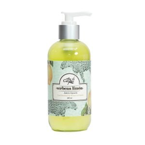 Jabón-líquido-con-vitamina-E-y-extracto-de-Llantén-236ml-Verbena-Limón.-Enriquecido-con-Mantequilla-de-Limón-y-extracto-de-Limón