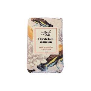 Jabon artesanal con manteca de Karité -Flor de Loto y Melon 130gr