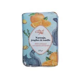 Jabon-artesanal-con-manteca-de-karite-naranja-jengibre-y-tomillo