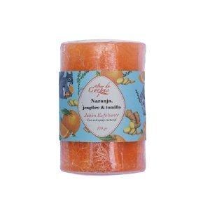Jabon-exfoliante-de-glicerina-con-estropajo-natural-Naranja-jengibre-y-tomillo