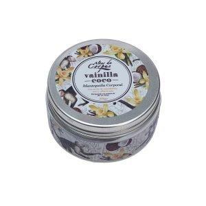 Mantequilla-corporal-vainilla-coco-con-aceite-de-macadamia-coco-y-albaricoque-220gr.-Enriquecida-con-extracto-de-flor-de-tahiti