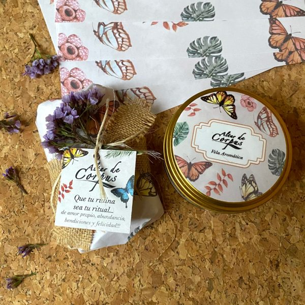 Kit de regalo Jabon exfoliante y vela Aromatica - Altar de Corpus Cuidado corporal
