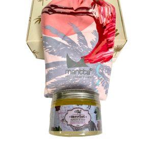Kit MA 1 toalla + exfoliante de azúcar - Altar de Corpus